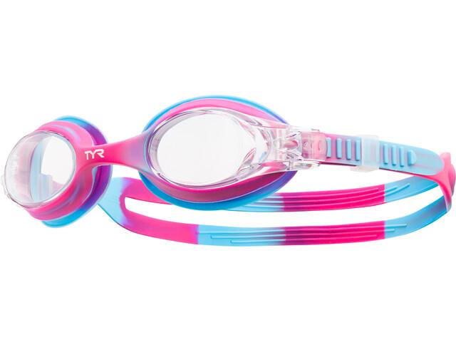 TYR Swimple Tie Dye Lunettes de protection Enfant, pink/blue